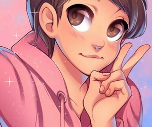 anime, pink, and totty image