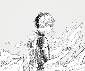 anime, boku no hero academia, and todoroki shouto image