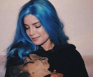 halsey, blue hair, and hopeless fountain kingdom image