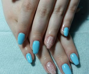blue, nails, and manicure image