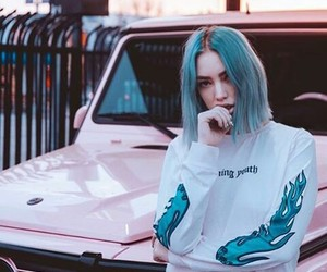 blue, car, and hair image