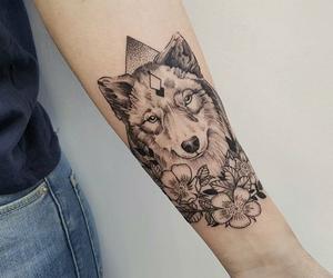 tatoo and wolf image