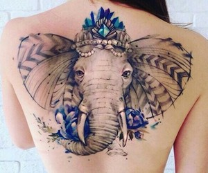 colors, elefante, and tatoo image