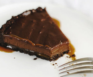 caramel, food, and tart image