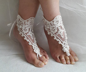 etsy, lace anklet, and ivory lace shoes image
