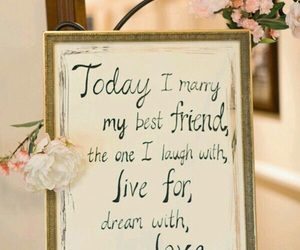 quote, text, and wedding image