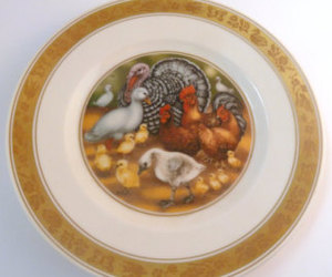 etsy, hans christian, and vintage plate image