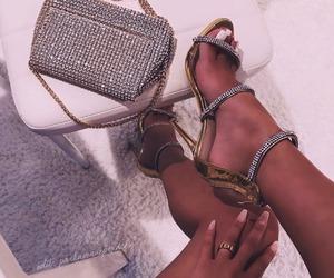 bag, shoes, and diamond image