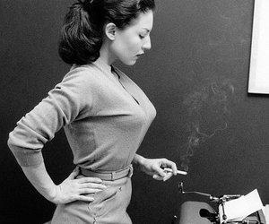 vintage, cigarette, and typewriter image