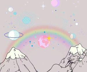 mountains, art, and grunge image