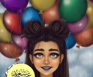 balloon, عيد سعيد, and ﺭﻣﺰﻳﺎﺕ image
