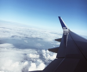 blue, clouds, and fly image