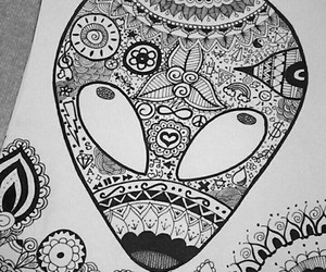 alien, art, and draw image