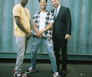 jimmy kimmel, kyle, and rappers image