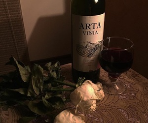 dark, flowers, and wine image
