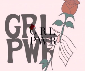 girl, girl power, and rose image