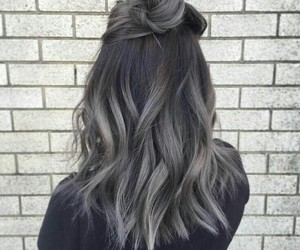 hair, grey, and hairstyle image