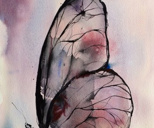 butterfly, art, and watercolor image
