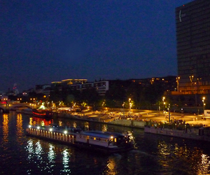 by night, paris, and le seine image