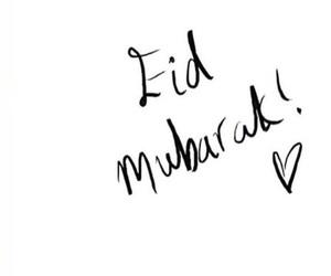 eid mubarak and english words image