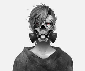 anime, boy, and mask image
