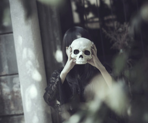 goth, gothic, and skull image