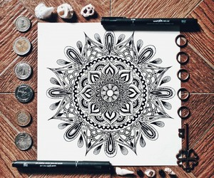 art, beautiful, and doodle image