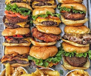 burger, food, and delicious image