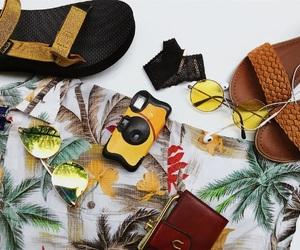 brown, fashion, and floral image