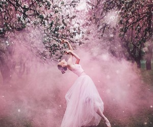 pink, ballerina, and ballet image
