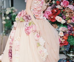 beautiful, dress, and floral image
