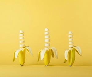 yellow, banana, and aesthetic image