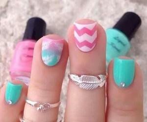 nails, pink, and pastel image