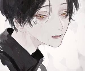 boy, sad, and animeboy image