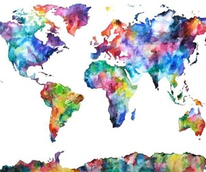 world, travel, and art image