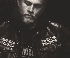 black and white, Charlie Hunnam, and sons of anarchy image