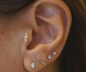 cool, piercing, and earing image