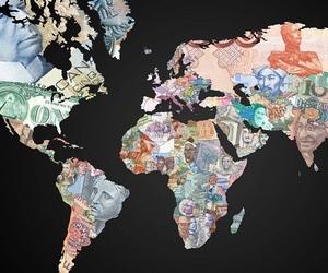 world, money, and map image