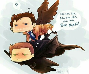supernatural, castiel, and batman image