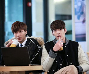 lee min ho, kim woo bin, and the heirs image