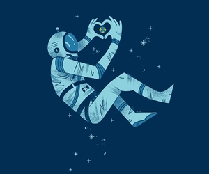 astronaut, earth, and spaceman image