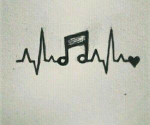 draw, love, and music image