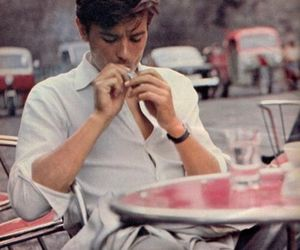 Alain Delon, boy, and man image