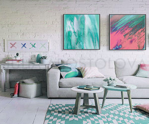 abstract, diptych, and watercolor abstract image