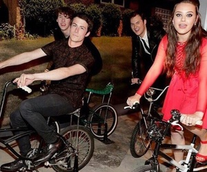 dylan minnette, katherine langford, and 13 reasons why image