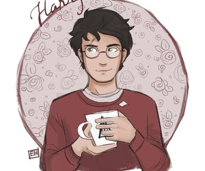 biscuit, harry potter, and tea image