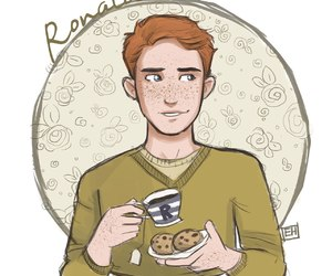 biscuit, ron weasley, and harry potter image