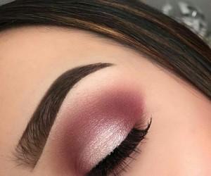 makeup, smokey eye, and shine image