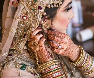 pakistani, bride, and indian image