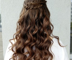 girls, Prom, and hair image